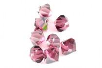 Rose Satin Swarovski Crystal Top Drilled Bicone Pendants 6301