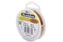 Beadalon® Stringing Wire (Satin Copper ) - 19 Strands - .012