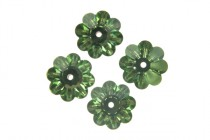 Peridot, Swarovski crystals,faceted marguerite lochrose flower (3700).