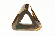 Crystal Copper CAL V Sl 4737 20mm Swarovski Elements Crystal Cosmic Triangle pendant