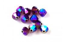 Burgundy AB 2X 5301/5328 Swarovski Crystal Bicone Beads - Factory Pack Quantity