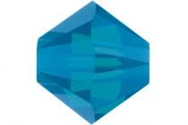 Caribbean Blue Opal Swarovski Crystal Bicone Beads 5301/5328