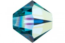 Indicolite AB 5301/5328 Swarovski Crystal Bicone Beads - Factory Pack Quantity