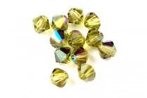 Khaki AB 5301/5328 Swarovski Crystal Bicone Beads - Factory Pack Quantity