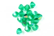 Light Emerald AB 5301/5328 Swarovski Crystal Bicone Beads - Factory Pack Quantity