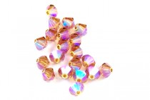 Light Smoked Topaz AB 2X 5301/5328 Swarovski Crystal Bicone Beads - Factory Pack Quantity