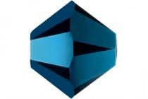 Crystal Metallic Blue AB2x Swarovski Crystal Bicone Beads 5301/5328