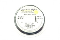 Artistic Wire® Black 24 Gauge 20 Yards