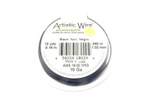 Artistic Wire® Black 18 Gauge 10 Yards