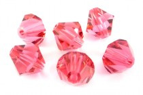 Indian Pink 5301/5328 Swarovski Elements Crystal Bicone Bead
