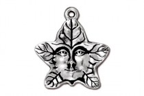 Antique Silver Plated Tree Spirit Charm - TierraCast®