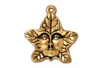 Antique Gold Plated Tree Spirit Charm - TierraCast®