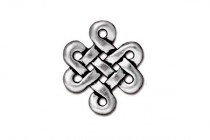 Antique Silver Plated Celtic Eternity Link - TierraCast®