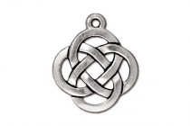 Antique Silver Plated Celtic Knot Pendant - TierraCast®