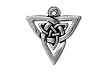 Antique Silver Plated Open Triangle Pendant - TierraCast®