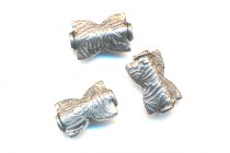 Sterling Silver Bali Style Textured Bowtie Bead 8mm x 13mm - BA 105