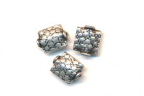 Sterling Silver Bali Style Cobblestone Beads - 8x9mm