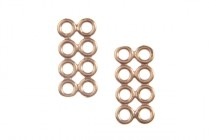 Copper Plated Spacer Bars with Eight Rings -JBB Findings