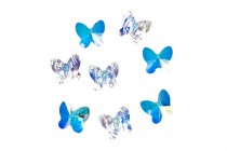 Crystal AB,Bead, Swarovski crystals,8x7mm faceted butterfly (5754).