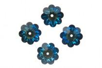 Crystal Bermuda Blue, Swarovski crystals,faceted marguerite lochrose flower (3700).