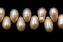 Top-Drilled Teardrop Freshwater Pearls - Champagne