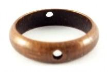 Antique Copper Plated Bead Frames - Plain Circle