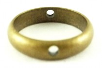 Antique Brass Plate Over Brass Bead Frame/Ring