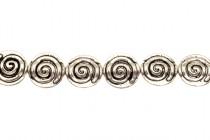 Pewter Cinnamon Circle Beads - 12mm