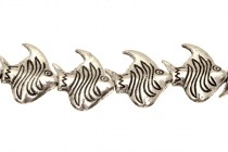Pewter Big Hole Angel Fish Beads - 21mm
