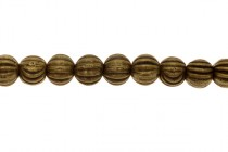 Antique Brass Over Pewter Round Beads (Melon)