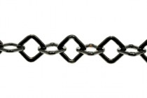 Gunmetal Over Brass Diamond Chain 5.5mm