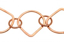 Copper Shell and Circle Chain 25x13mm