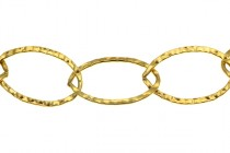 14Kt Gold Filled Hammered Oval Chain 14mm x 20mm