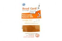 Griffin Natural Silk Bead Cord - Copper Carnelian