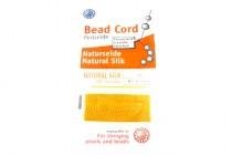 Griffin Natural Silk Bead Cord - Dark Yellow Amber