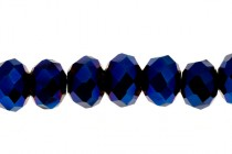 Blue Cobalt Chinese Crystal Rondelle Glass Beads