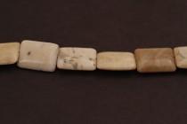 Ivory Jasper (Natural) Flat Rectangle Gemstone Beads