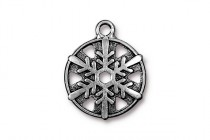 Charm, Treasure Chest, TierraCast®: ,Antique Silver - plated pewter (tin-based alloy), 3/4