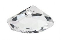 Crystal Silver Shade 6657 16x27x10mm Swarovski Elements Crystal Galactic Horizontal Pendant