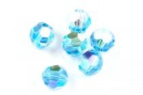 Aquamarine AB 5000 Swarovski Crystal Round Beads - Factory Pack Quantity