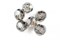 Black Diamond Satin 5000 Swarovski Crystal Round Beads - Factory Pack Quantity