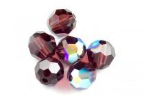 Burgundy AB 5000 Swarovski Crystal Round Beads - Factory Pack Quantity
