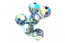 Indian Sapphire AB 2X 5000 Swarovski Crystal Round Beads - Factory Pack Quantity