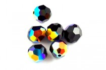Jet AB 5000 Swarovski Crystal Round Beads - Factory Pack Quantity