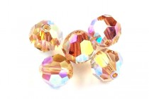 Light Colorado Topaz AB 2X 5000 Swarovski Crystal Round Beads - Factory Pack Quantity