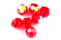 Light Siam AB 5000 Swarovski Crystal Round Beads - Factory Pack Quantity