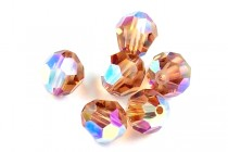 Light Smoked Topaz AB 2X 5000 Swarovski Crystal Round Beads - Factory Pack Quantity