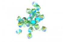Erinite AB 2X 5301/5328 Swarovski Crystal Bicone Beads - Factory Pack Quantity