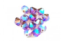 Lilac AB 2X 5301/5328 Swarovski Crystal Bicone Beads - Factory Pack Quantity