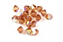 Light Smoked Topaz AB 5301/5328 Swarovski Crystal Bicone Beads - Factory Pack Quantity